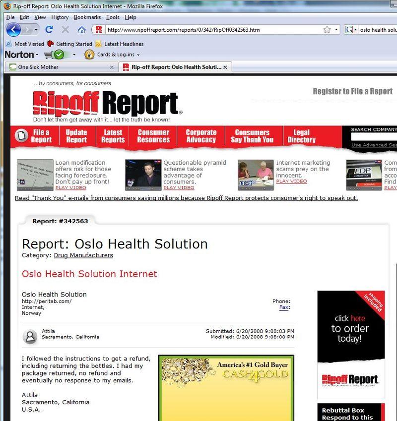 Pertitab ripoff report
