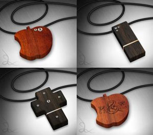 Wood-usb-jewelry