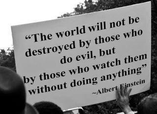 Einstein quote billbord