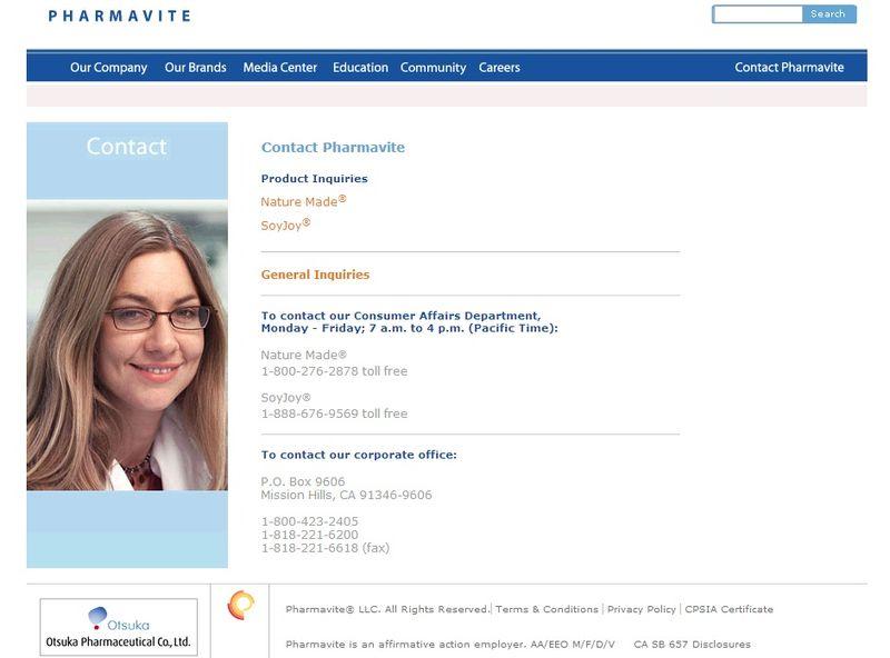 Pharmavite infopage
